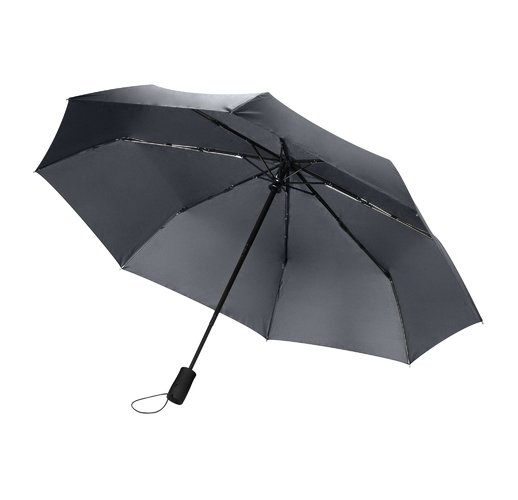 Зонт складной Portobello Nord, серый, ручка пластик,soft touch