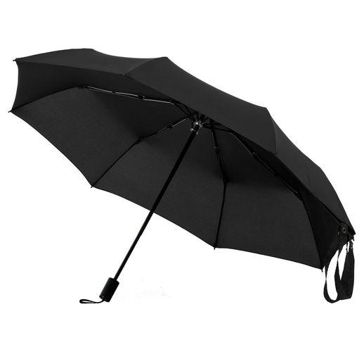 Зонт-сумка складной Stash, черный