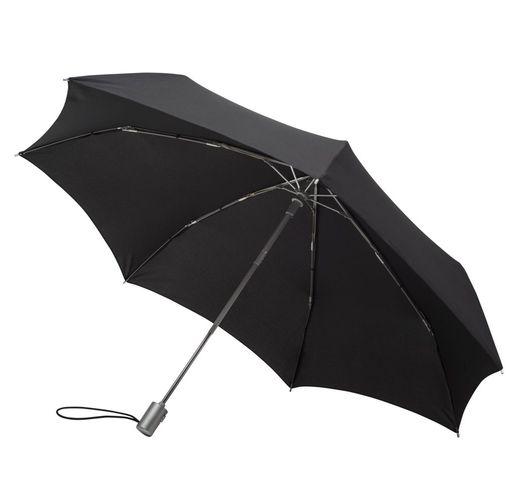 Складной зонт Alu Drop, 3 сложения, 7 спиц, автомат, черный