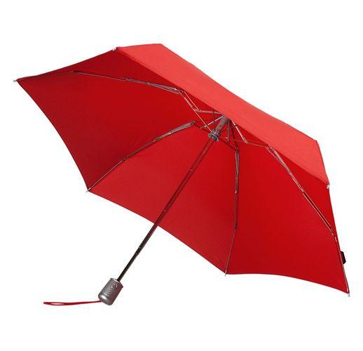 Складной зонт Alu Drop S, 4 сложения, автомат, красный