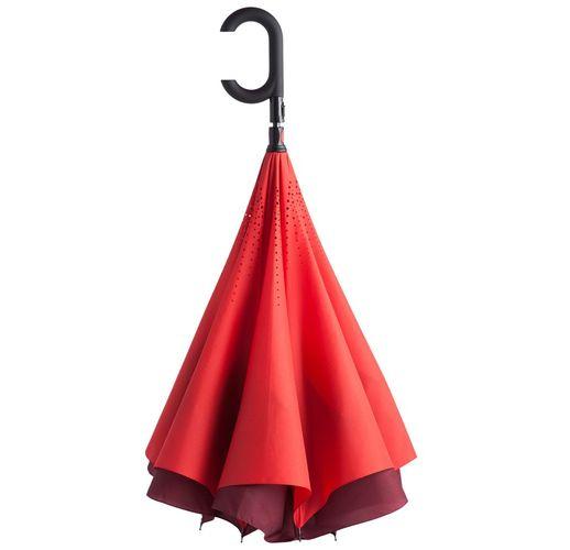 Зонт наоборот Unit ReStyle, трость, красный