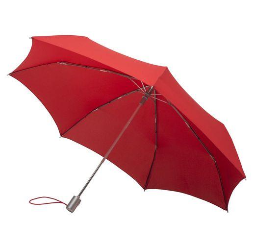 Складной зонт Alu Drop S, 3 сложения, 7 спиц, автомат, красный