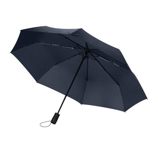 Зонт складной Portobello Nord, синий, ручка пластик, soft touch