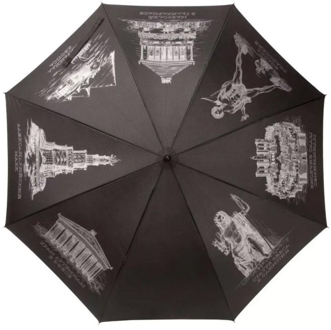 Черные зонты-трости оптом