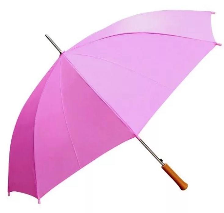 Розовые зонты-трости с логотипом - Акция